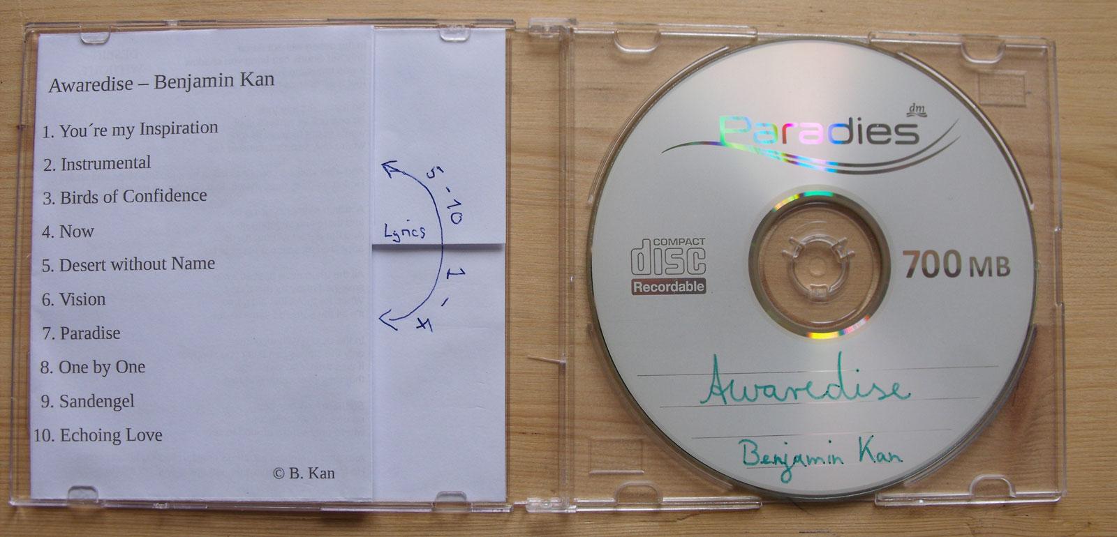 Ben's Seite - Lieder